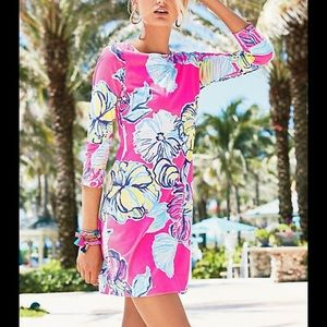 Lilly Pulitzer Marlowe dress swept by the sea
